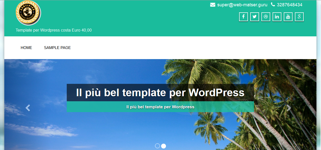 Super egrave; il piugrave; bel template per Wordpress