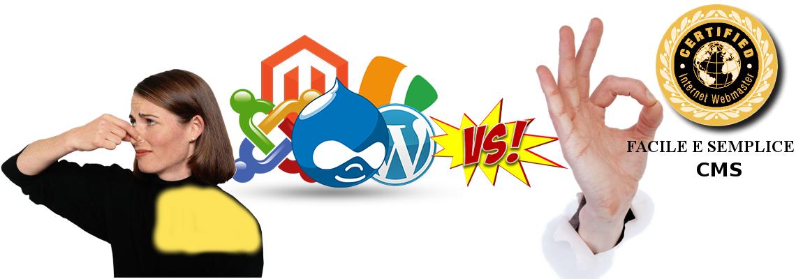 L'unico CMS facile, semplice, totalmente SEO e SEM e non ti servono Webmaster e Web Designer