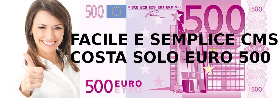 L'unico CMS che ammortizza i costi, risparmi 1000 euro dal costo del Webmaster e del Web Designer